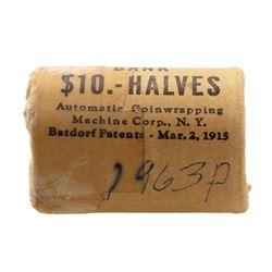 Original Bank Roll of (20) Brilliant Uncirculated 1963 Franklin Half Dollar Coins