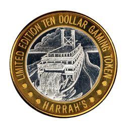 .999 Fine Silver Harrah's Casino Las Vegas, Nevada $10 Limited Edition Gaming Token