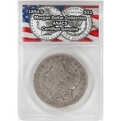 1894-S $1 Morgan Silver Dollar Coin ANACS Certified Genuine