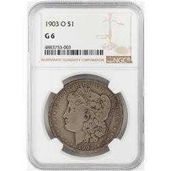 1903-O $1 Morgan Silver Dollar Coin NGC G6