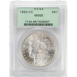1883-CC $1 Morgan Silver Dollar Coin PCGS MS65 OGH
