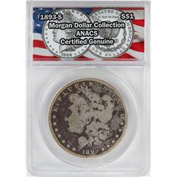1893-S $1 Morgan Silver Dollar Coin ANACS Certified Genuine