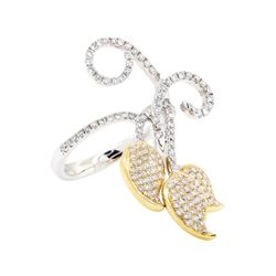 14KT White and Yellow Gold 0.80 ctw Diamond Ring