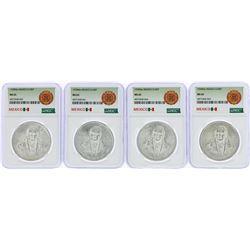 Lot of (4) 1978Mo Mexico 100 Pesos Silver Coins NGC MS65