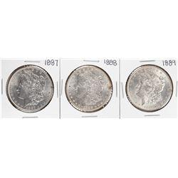 Lot of 1887-1889 $1 Morgan Silver Dollar Coins