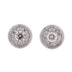 14KT White Gold 0.95 ctw Diamond Stud Earrings