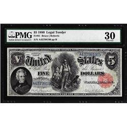 1880 $5 Woodchopper Legal Tender Note Fr.81 PMG Very Fine 30