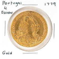 1779 Portugal 4 Escudos Gold Coin