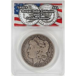 1895-S $1 Morgan Silver Dollar Coin ANACS Certified Genuine