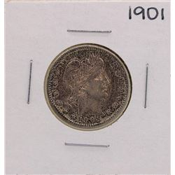 1901 Barber Silver Quarter Coin