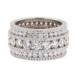 18KT White Gold 8.00 ctw Diamond Band