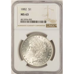 1882 $1 Morgan Silver Dollar Coin NGC MS63