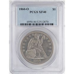 1860-O $1 Seated Liberty Silver Dollar Coin PCGS XF40
