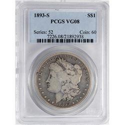 1893-S $1 Morgan Silver Dollar Coin PCGS VG08
