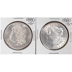 Lot of 1880-S & 1881-S $1 Morgan Silver Dollar Coins