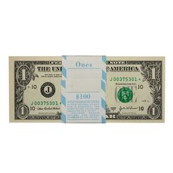 Pack of (100) Consecutive 2003A $1 Federal Reserve STAR Notes