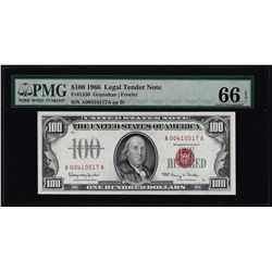 1966 $100 Legal Tender Note Fr.1550 PMG Gem Uncirculated 66EPQ