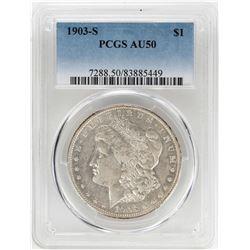 1903-S $1 Morgan Silver Dollar Coin PCGS AU50