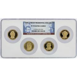 Set of 2008-S $1 Proof Presidential Dollar Coins NGC PF69 Ultra Cameo