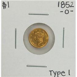1852-O Type 1 $1 Liberty Head Gold Dollar Coin