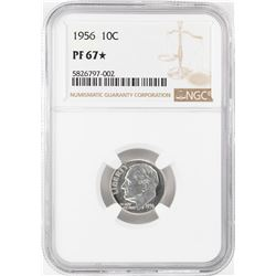 1956 Proof Roosevelt Dime Coin NGC PF67 Star
