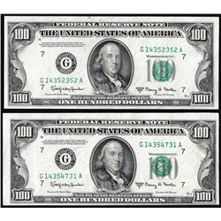 Lot of (2) 1950E $100 Federal Reserve Notes