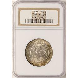 1946 Iowa Centennial Commemorative Half Dollar Coin NGC MS66