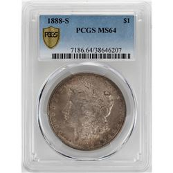 1888-S $1 Morgan Silver Dollar Coin PCGS MS64