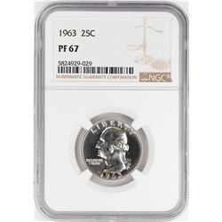 1963 Proof Washington Quarter Coin NGC PF67