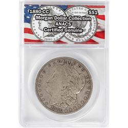 1880-CC $1 Morgan Silver Dollar Coin ANACS Certified Genuine