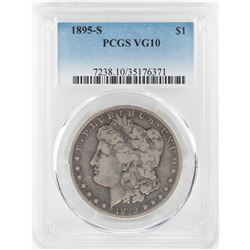 1895-S $1 Morgan Silver Dollar Coin PCGS VG10