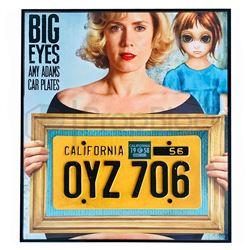 Big Eyes Framed License Plate