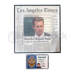 City of Lies Newspaper & Badge