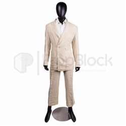 Until the End of the World Max Von Sydow Distressed Suit