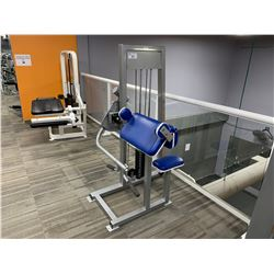 GREY APEX  SEATED BICEP CURL MACHINE