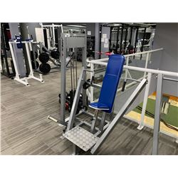 GREY APEX SEATED CHEST PRESS MACHINE