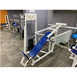 WHITE APEX SEATED INCLINE PRESS MACHINE