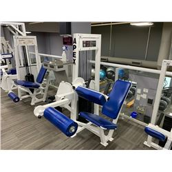 WHITE APEX SEATED LEG CURL MACHINE