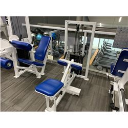 WHITE APEX SEATED CALF RAISE MACHINE
