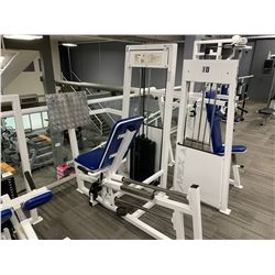 WHITE APEX SEATED LEG PRESS MACHINE