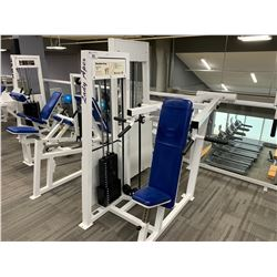 WHITE APEX SEATED SHOULDER PRESS MACHINE
