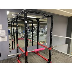 AM STAFF ADJUSTABLE SQUAT RACK WITH BAR & PINK PROTECTOR