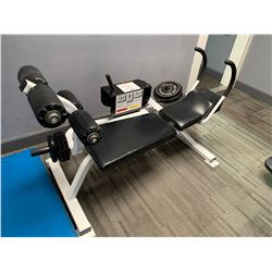 FREE WEIGHT HORIZONTAL SUPREME AB MACHINE WITH ASSORTED FREE WEIGHTS