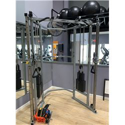 GREY APEX 2 STATION CABLE CROSS MACHINE WITH ACCESSORIES