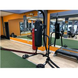 BLACK SELECT HEAVY BAG WITH EVERLAST BAG STAND & WEIGHTS