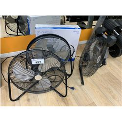 4 ASSORTED FLOOR FANS & 11 WALL FANS LOCATED THROUGH OUT LADIES GYM