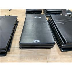 5 BLACK COMMERCIAL GYM MATS
