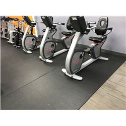 5 - 18' X 4' BLACK GYM FLOORING MATS LOCATED IN STRETCH AREA