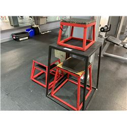 LOT OF ASSORTED STEP UP STOOLS