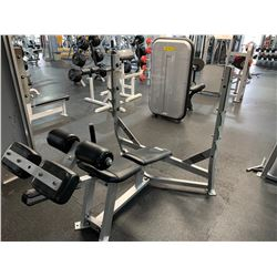 GREY COMMERCIAL DECLINE BARBELL BENCH PRESS
